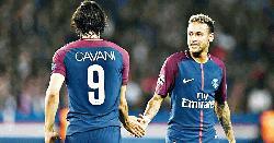Neymar, Cavani near comebacks as stuttering PSG try to wrap up title