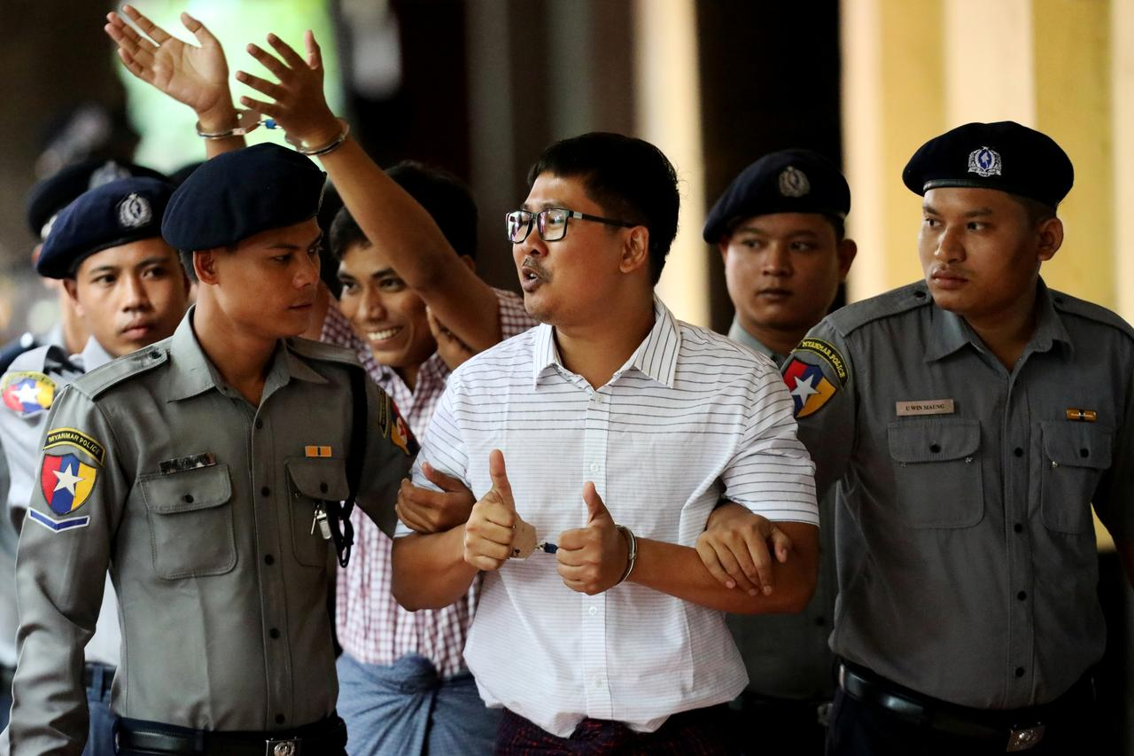Myanmar's Supreme Court rejected the final appeal of two Reuters journalists and upheld seven-year prison sentences for their reporting on the military's brutal crackdown on Rohingya Muslims.