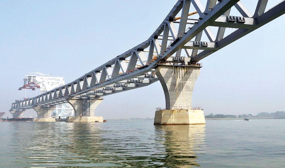 11th span of Padma Bridge installed
