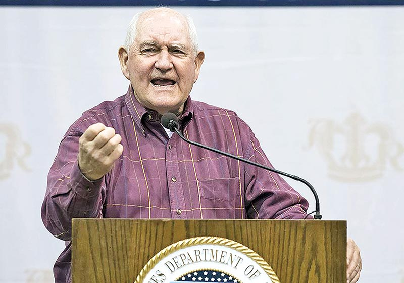 US Secretary of Agriculture Sonny Perdue.