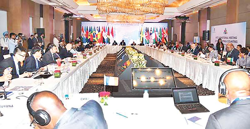 Trade Ministers and Senior officials of participating countries attend the inaugural session of the WTO Ministerial Meeting in New Delhi on Monday.