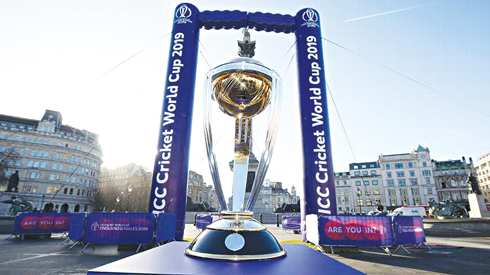 The World Cup on display at a promotional event in London. photo: cricinfo