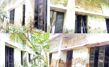 769 school students attend classes in risky building