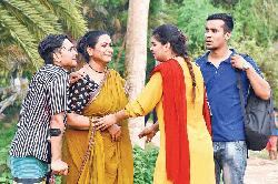 Champa, as a victim of mysterious plot in TV drama
