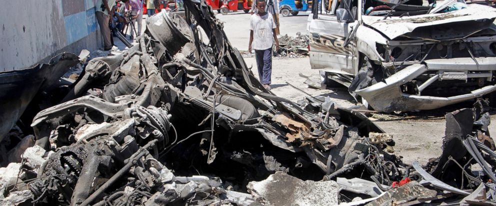 Suicide car bomb kills at least 9 in Somalia's capital