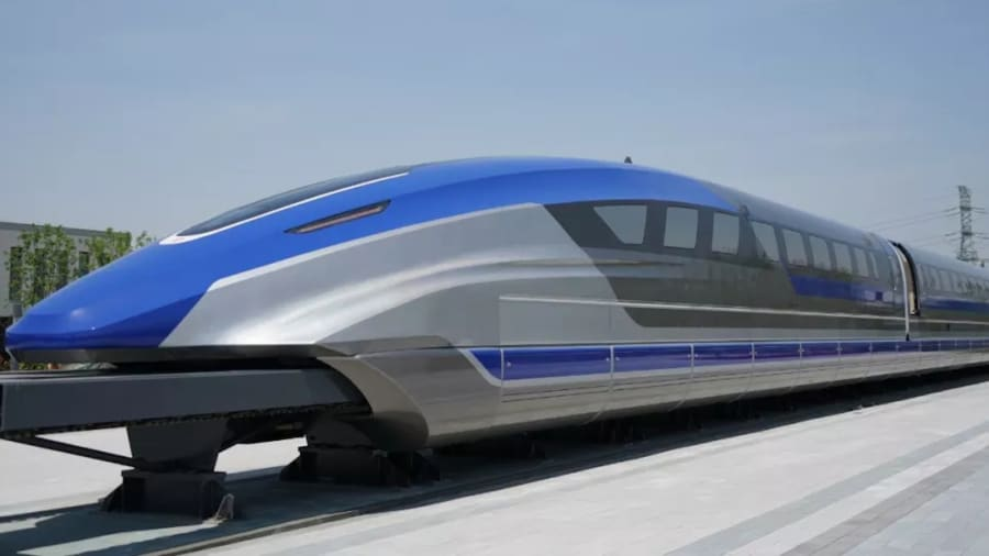 China unveils 600/Km/h floating train