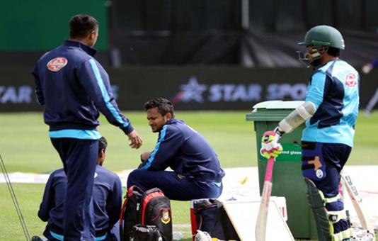 Shakib uncertain against Sri Lanka after thigh injury