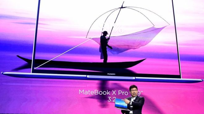 Richard Yu had been expected to unveil a new laptop at the CES Asia 2019 tech show in Shanghai