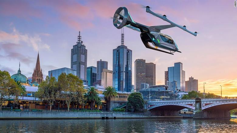 Melbourne will be the first city outside America to get Uber's flying taxis