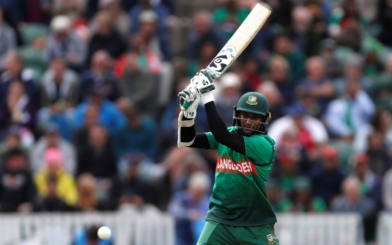 Shakib makes his fourth score of 50 or more in his four 2019 World Cup innings Credit: Action Images via Reuters/Paul Childs