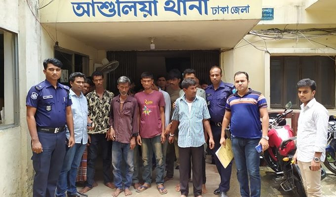 11 doping, mugging gang members held in Savar