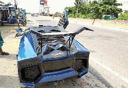 Young mechanic builds 'Lamborghini'