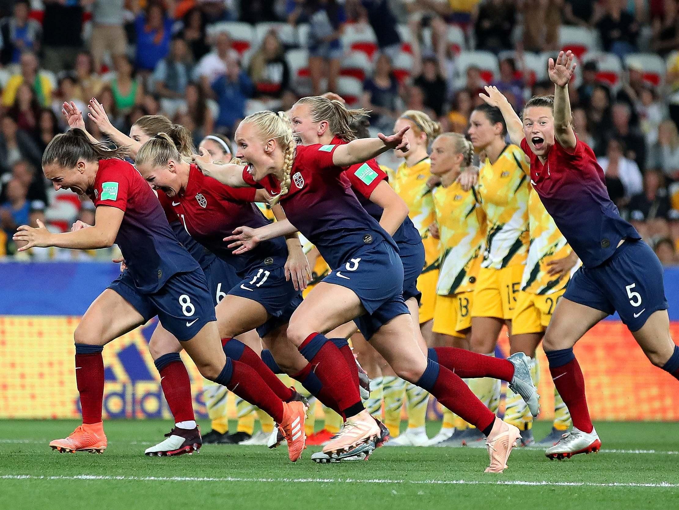 Norway beat Australia on penalties