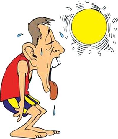 Shield yourself from heat stroke in heatwave