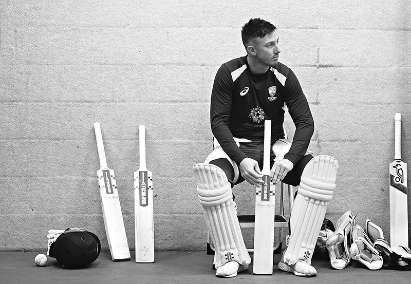 Shaun Marsh of Australia looks on during Australia Nets Session at the County Ground on June 11, 2019 in Taunton, England.photo: AFP