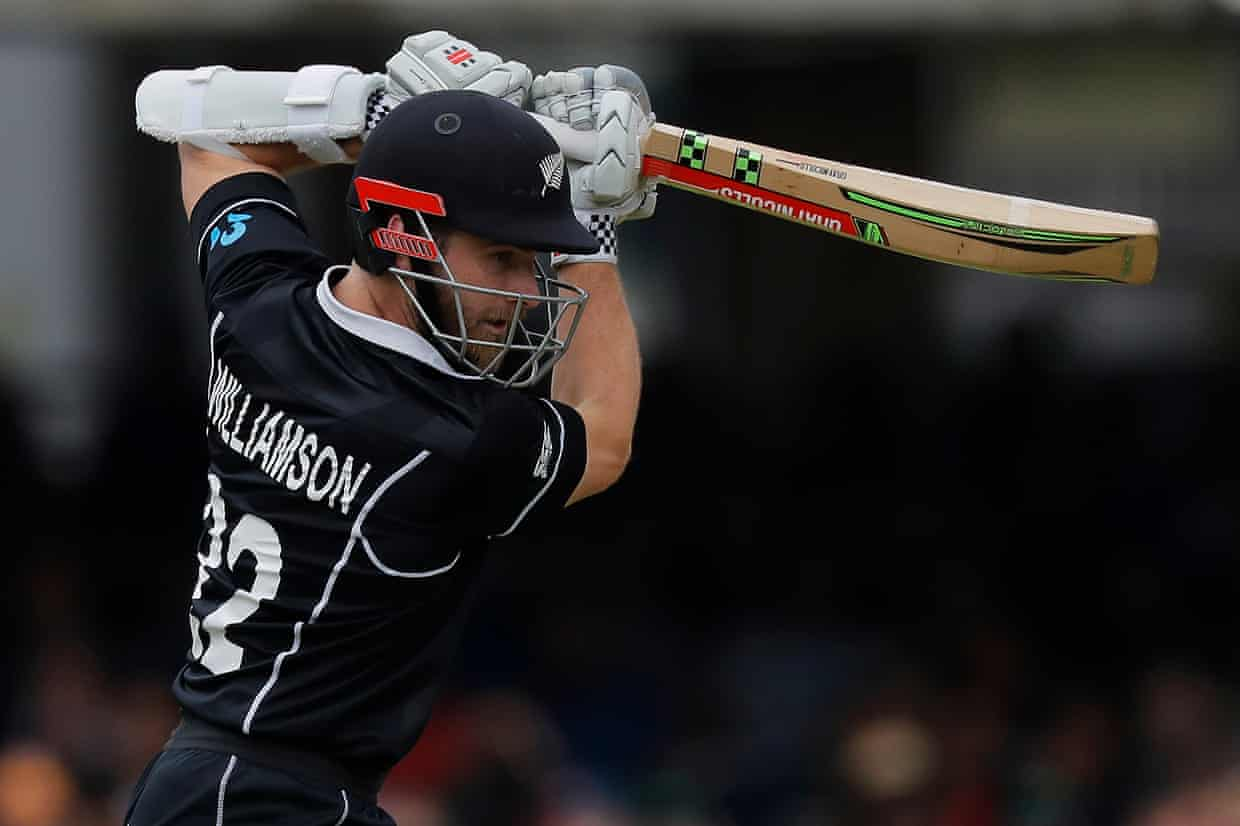 Williamson sends one for four. Photograph: Tom Jenkins/The Guardian