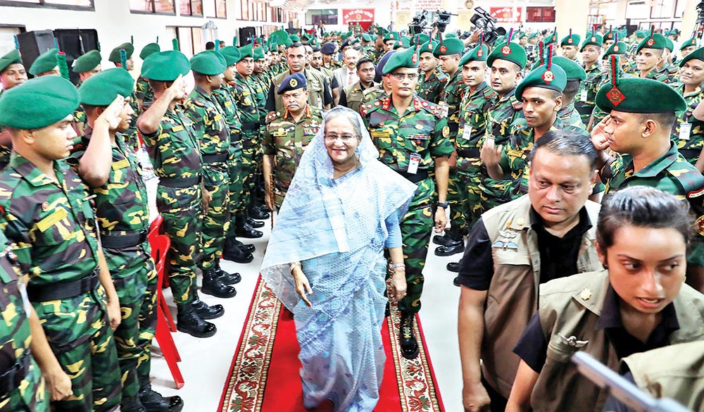 Efforts on to elevate armed forces to int'l standard: PM