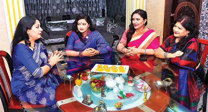Models: Culinary Artistes Tania Shermin, Jebun Nessa Zeba, Shahnaz Islam, & Kakoli Saha.Photo: Saikat Baran Shil