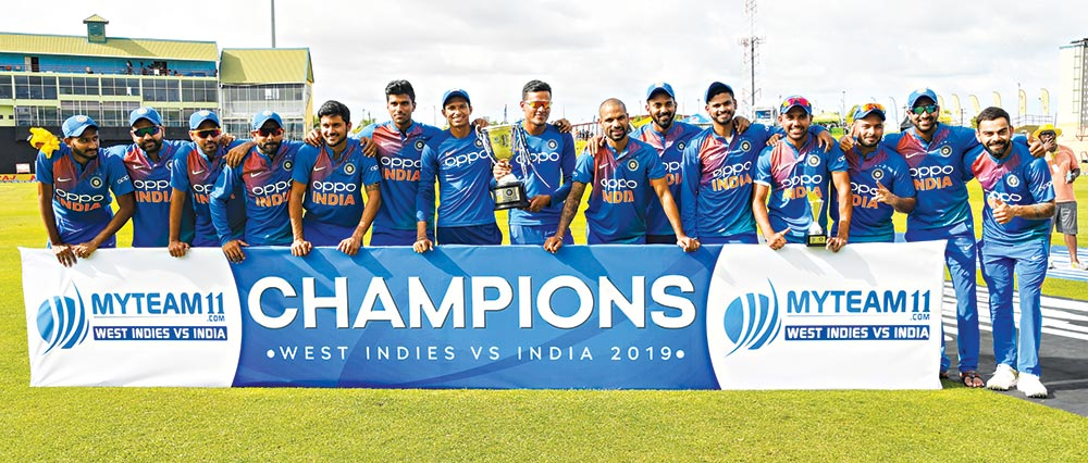 India clean sweep West Indies in T20 series