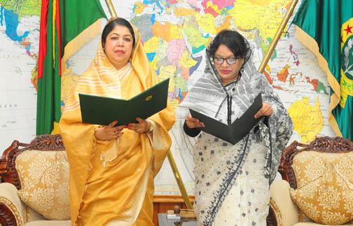 Salma Chowdhury takes oath as MP