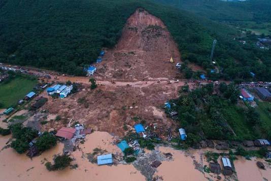 Myanmar landslide kills 22, many more feared missing