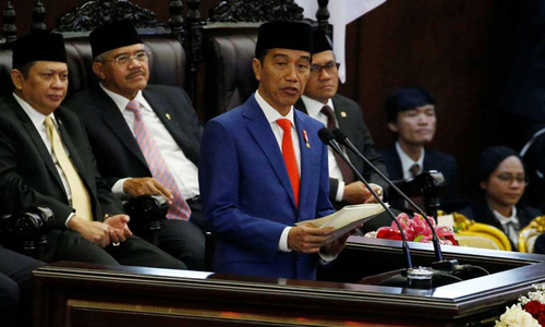 Indonesia president formally proposes relocating capital to Borneo