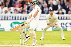 Australia slump before rain intervenes again in second Ashes Test