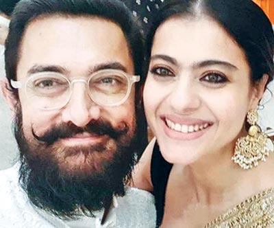 Aamir Khan and Kajol meet 'after so long' at Ambanis' Ganesh Chaturthi celebrations