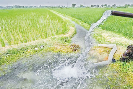 Fresh water conservation for irrigation