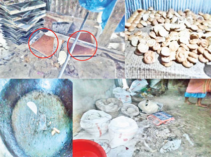 Bakery items being made in unhealthy environment at Daulatkhan