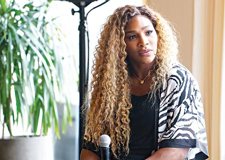 23-time Grand Slam Champion, Olympian & Designer Serena Williams speaks during 'Real Talk with Two Female Champions Inspiring the Next Generation' as a part of NYFW: The Talks. Presented by Wheaties at Spring Studios during New York Fashion Week.photo: AFP