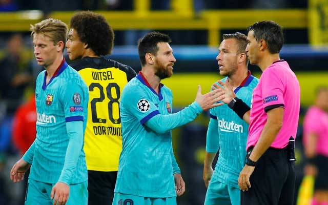 Dortmund draw 0-0 with Barcelona on Messi return