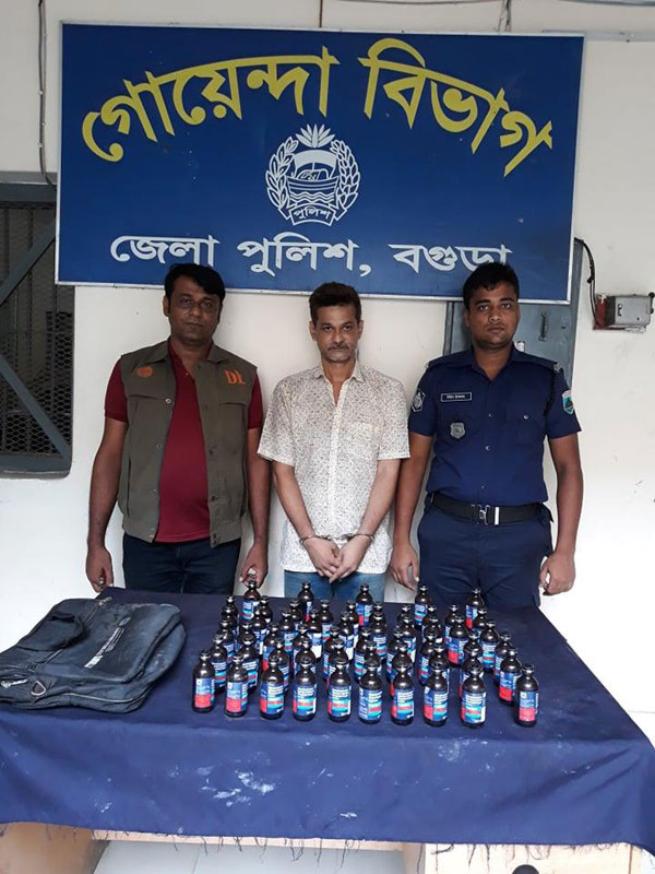 Ex-MP's son held with Phensedyl syrup, cash Taka