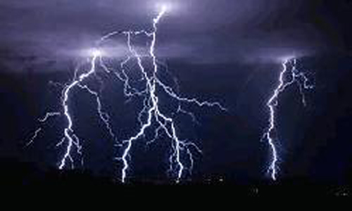 Schoolboy killed by lightning strike