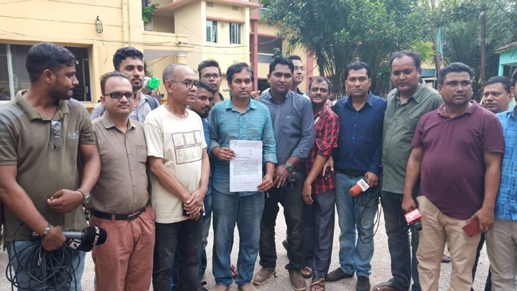 Fellow's arrest: 56 Sylhet journos file GD seeking security
