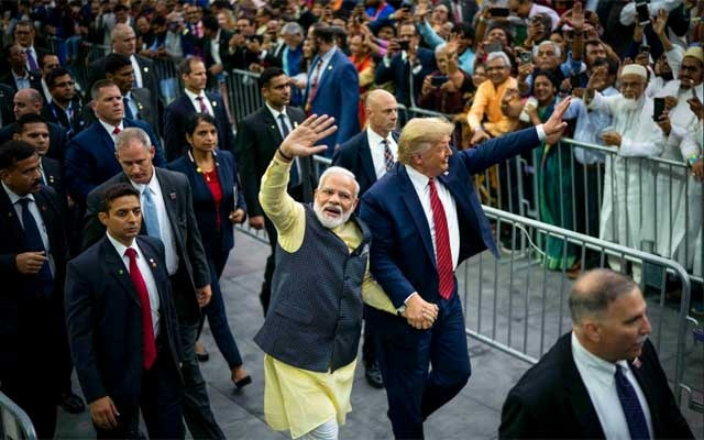 Trump plays second fiddle at Modi's rally
