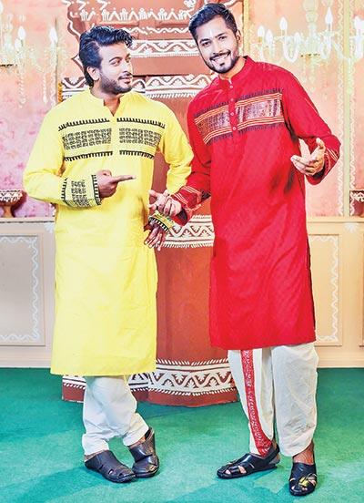 Men's fashion in Durga Puja