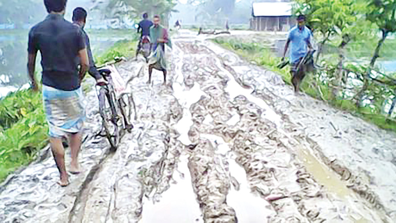 15,000 villagers face problem for deplorable road at Char Fasson