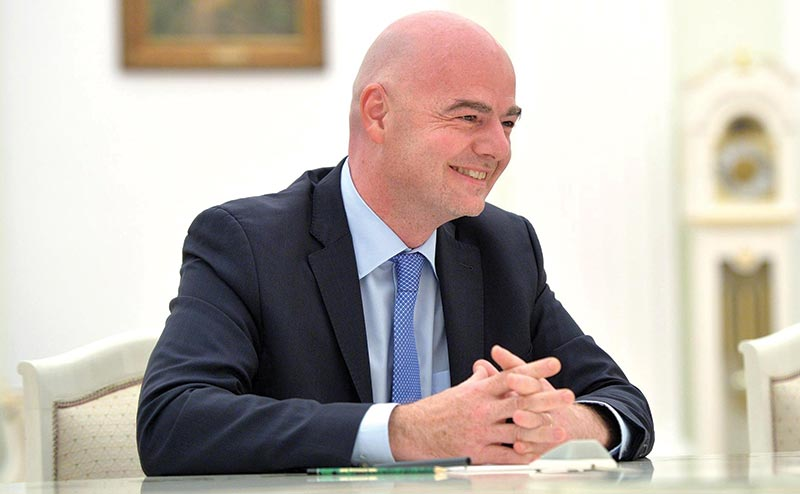 FIFA president Infantino coming to Dhaka on Wednesday