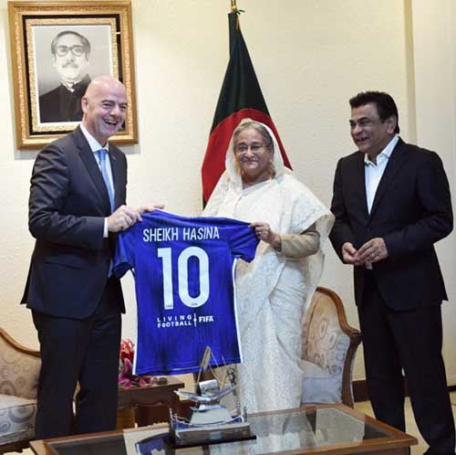 'FIFA to continue support for promotion of Bangladesh's football'