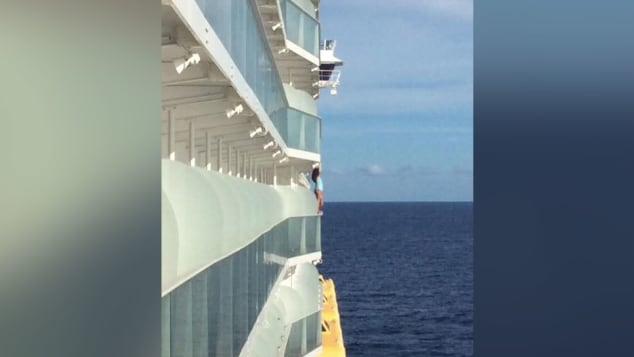 Dangerous selfie woman gets cruise ban