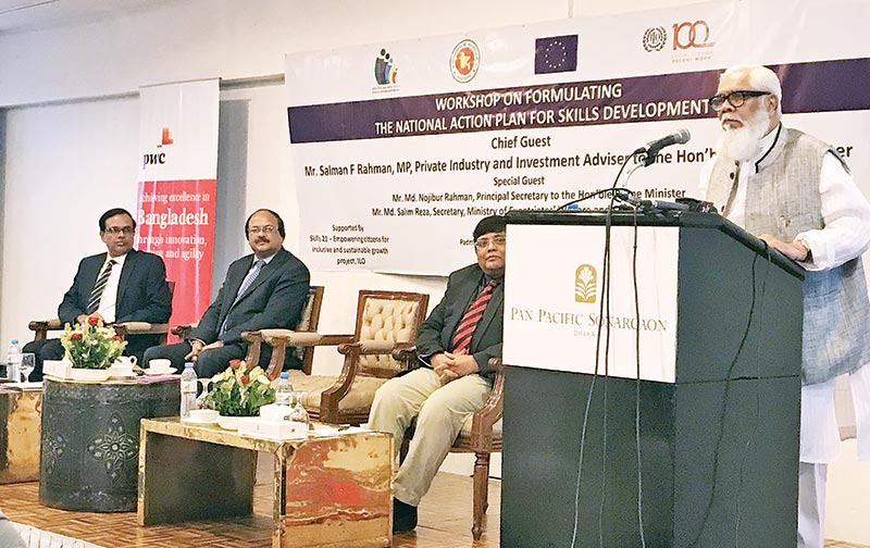 Salman F Rahman, Prime Minister's advisor on Private Industry and Investment speaking as the chief guest at a local hotel in the city on Sunday.