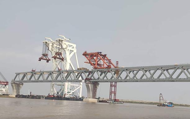 Padma Bridge's 15th span installed: 2250 meters now visible