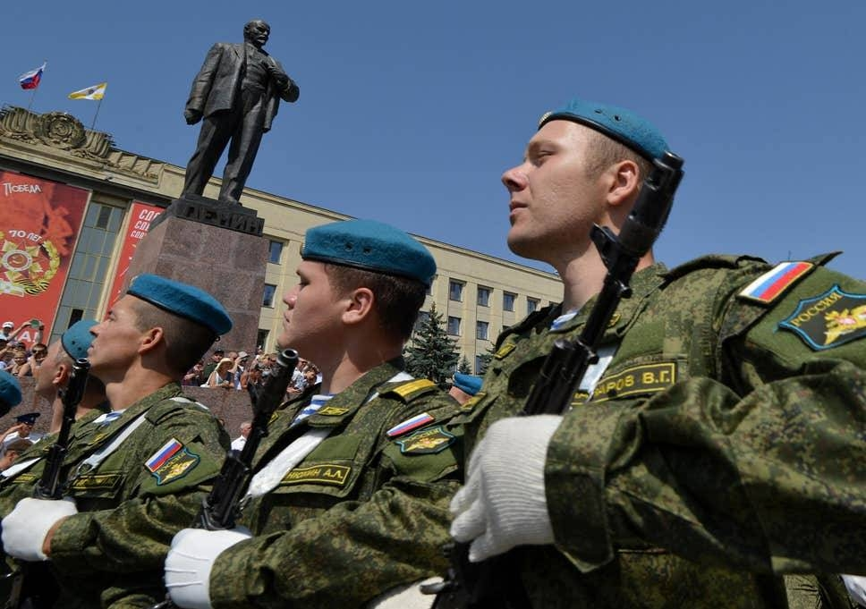 Russia soldiers are seen assembling at bases near Kaliningrad in this file photo. — AFP