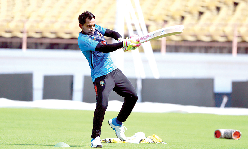 Mushfiqur Rahim during practice session.	photo: BCB