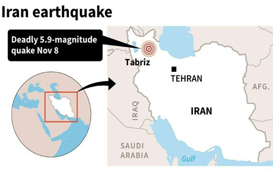 3 killed, 20 injured in Iran earthquake