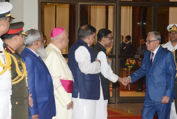 President Hamid returns home from Nepal