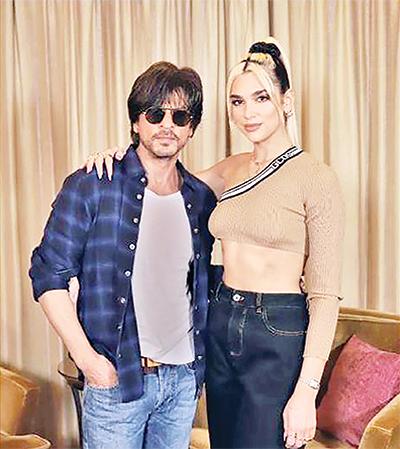 Shah Rukh Khan meets Dua Lipa ahead of her Mumbai concert