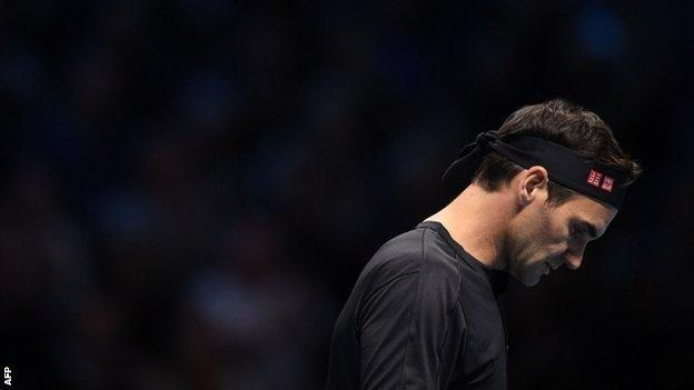 Roger Federer's hopes of a record-extending seventh ATP Finals title are over for another year