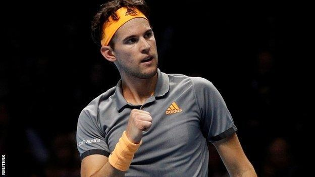 Dominic Thiem saved all four of the break points he faced against Zverev